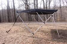 """New listing New Black Vortex 3 Bow Bimini Top 6' long / 67-72"""" wide, 46"""" Tall"""