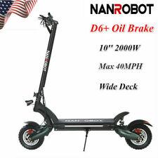 Us Nanrobot D6+ Electric Scooter 2000W Adult Dual Motor Oil Brake Folding 40Mph