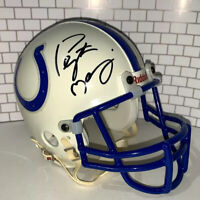 PEYTON MANNING AUTOGRAPHED SIGNED INDIANAPOLIS COLTS MINI HELMET wCOA