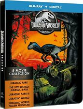 Jurassic Park World 5-Movie Collection Blu-ray Digital New Steelbook Edition
