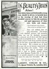 WW1 Lamont Corliss Javol Shampoo Powder Ad