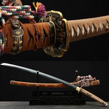 Clay Tempered Japanese Samurai Tachi Sword Folded Steel Battle Ready Hot Sharp