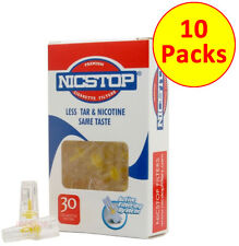 NICSTOP Cigarette Filters Tips 10 Packs (300 Filters) Tar Nicotine Filters