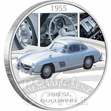 2006 $1 MERCEDES-BENZ 300 sl GULLWING 1955, classic cars 1oz Silver Proof Coin