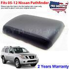 Fits 2005-2012 Nissan Pathfinder Leather Console Lid Armrest Cover Skin Black