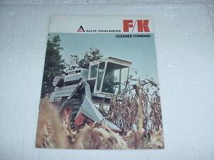 Allis-Chalmers F/K Gleaner Combines Sales Brochure