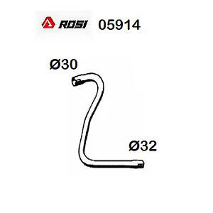 TUBO GAS DI SCARICO ANTERIORE RENAULT R4 - RODEO 4 ROSI PER 7700515611