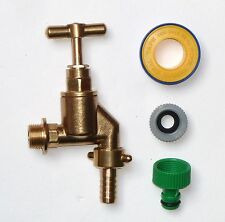 Heavy Duty 1/2 Inch Outside Tap With Garden Hose Fitting and PTFE Tape
