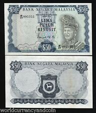 MALAYSIA 50 RINGGIT 1972 KING DEER LARGE AUNC WORLD CURRENCY MONEY NOTE FreeShip