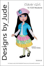 """Clever Girl Doll Clothes Sewing Pattern 15.25"""" Maudlynne & LittleMissMatched"""
