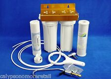 Twin Dual Undersink Water Filter Double O Ring System