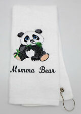 Personalized Embroidered Golf/Bowling Towel Panda Bear