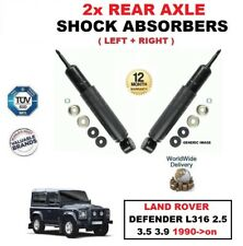 FOR LAND ROVER DEFENDER L316 2.5 3.5 3.9 1990->on REAR AXLE SHOCK ABSORBERS SET