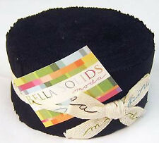 Moda Jelly Rolls Black Bella Solid - Patchwork Quilting 2.5 Inch Strips