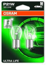OSRAM 2 Stück P21W 21 Watt Ultra Life 12 Volt 7506ULT Licht BA15s