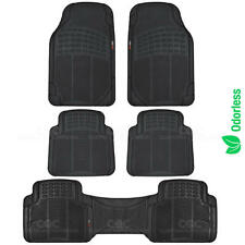 Eco-Tech MotorTrend Floor Mats Van Truck Black All Weather Protection 5 Piece
