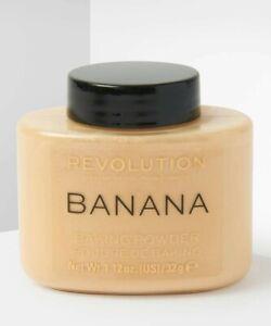 Makeup Revolution Banana Baking Powder Setting Correcting Poreless Smooth Vegan