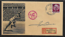 Jesse Owens 1936 Olympics Collector's Envelope Original Period 1936 Stamp OP1184