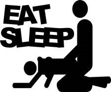 "EAT SLEEP JDM Vinyl Decal Sticker-6"" Wide White Color"