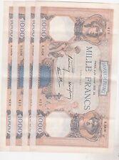 1000 FRANCS CERERS ET MERCURE 30 MARS 26/1/1939 SUP