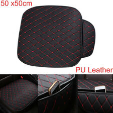 1 Piece Auto Seat Cover Front Cushion Black PU+Red Line Car Chair Accessories
