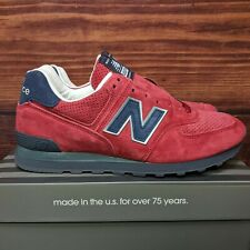 """New Balance 574 Classics Made in the USA """"Red Blue"""" shoes (US574XAD) Men's 9.5"""