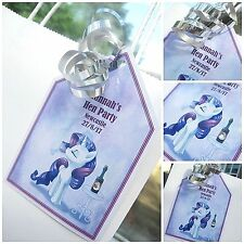 5 PURPLE SILVER CRYSTAL UNICORN HEN DO HEN PARTY THANK YOU GIFT LABEL GIFT TAGS