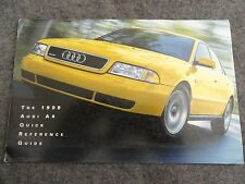 1998 Audi A4 Quick Reference Guide Owners Manual Supplement