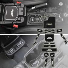 19pcs Interior Non-slip Door Slot Mat Pad Cup Holder For 2018 Jeep Wrangler JL