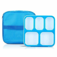 Bento Box, Fun life lunch box, Eco-Friendly, BPA Free, 5 Separated Compartments,