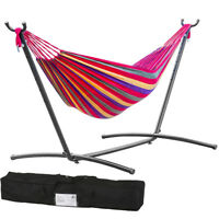 Hammock Stand With Space Saving Steel Stand Includes Carrying Case Red M32