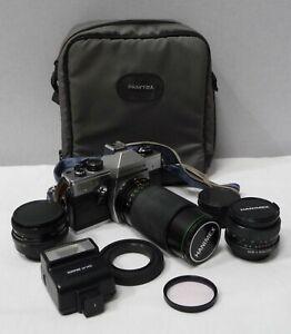 Praktica Nova 2 Camera 35mm SLR, includes 4 lens, carry case & accessories