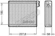 Verdampfer, Klimaanlage DENSO DEV09011 für FIAT