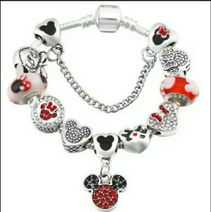 Childs Mickey Mouse Charm Bracelet Beautiful Birthday Gift Bargain