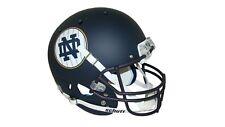 Notre Dame Fighting Irish Matte Navy Pinstripe Schutt Full Size Replica Helmet