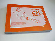 Honda Werkstatthandbuch CR250R 95 Fahrer-Wartungshandbuch