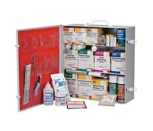 3 Shelf 100 Person OSHA First Aid Station w/12 Pocket