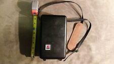 Old vintage Kodak hard camera case with strap push button open wear inside