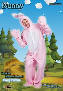 Adult Unisex Mens Ladies Pink Rabbit Easter Bunny Book Week Costume