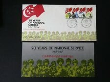 SINGAPORE FDC 1987 - 20 YEARS NATIONAL SERVICE