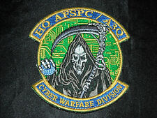 HEADQUARTERS AIR FORCE SPACE COMMAND AFSPC A3Q CYBER WARFARE DIVISION HOOK PATCH