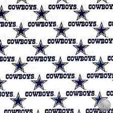 White Dallas Cowboys NFL 100% Cotton Fabric 1040 W