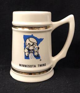 Vintage Minnesota Twins Ceramic Mug Tankard Stein Lewis Bros.  1960s