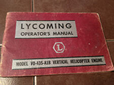Lycoming VO-435-A1B Helicopter Engine Operator's Manual