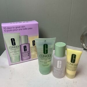 Clinique 3 Step Travel Size Set for Dry Skin, Soap Mild/Clarifying Lotion/DDML+