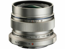 OLYMPUS M.ZUIKO DIGITAL ED 12mm F2.0 Lens Silver Japan Ver. New  / FREE-SHIPPING