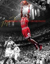 ** MICHAEL JORDAN ** SLAM Chicago Bulls Autographed 8x10 Photo (RP)