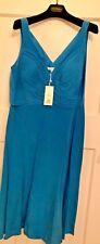 BNWT BODEN blue 100% silk dress knee length UK16 cost £199