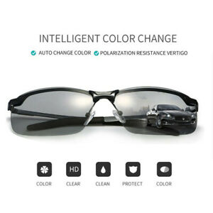 Men Photochromic Lens Polarized Sunglasses Outdoor -Driving Fishing Glasses NEW
