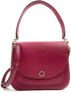 Kate Spade New York Kailee Medium Flap Shoulder Bag in Cranberry Cocktail